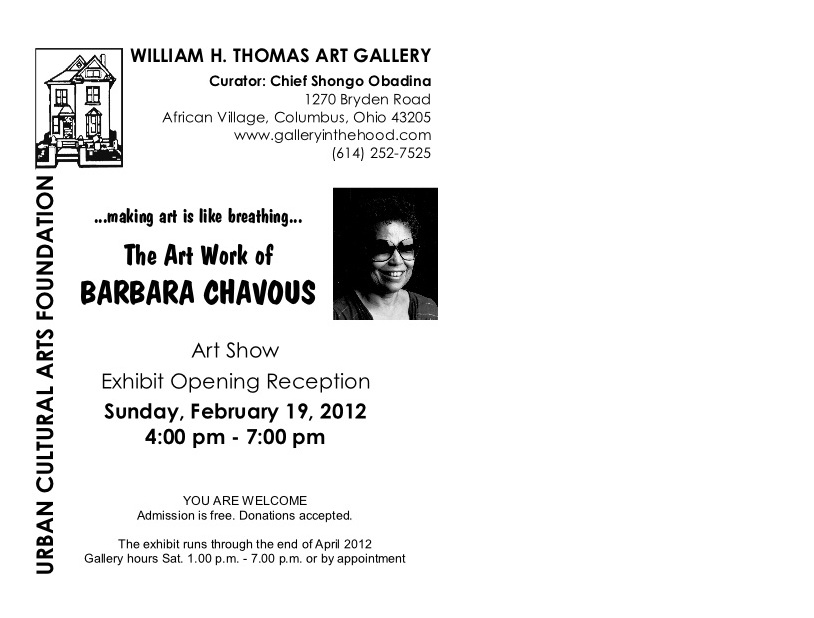 postcard B. Chavous - Invitation Show